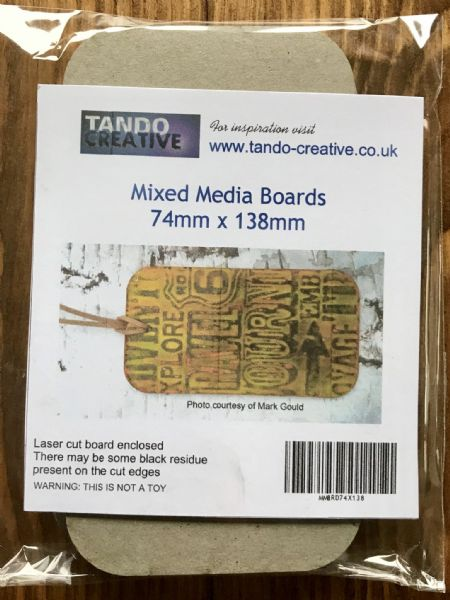 Tando Chipboard - Mixed Media Boards - 74 x 138mm